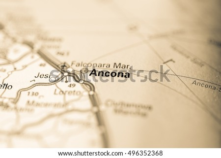 Ancona Map Stock Images RoyaltyFree Images Vectors Shutterstock - Map of ancona italy