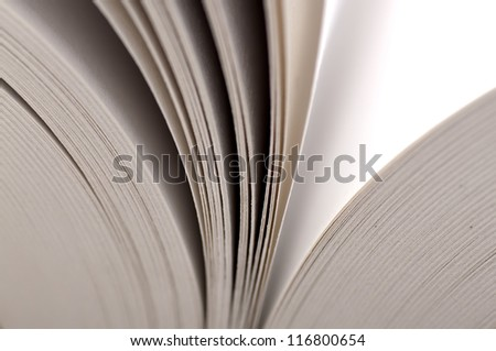 Macro view of book pages. The Education concept