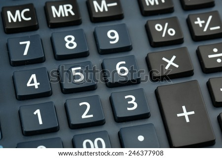 Macro view of calculator board - stock photo