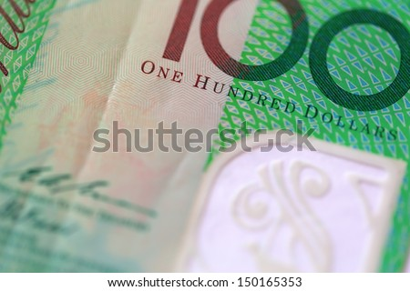 Macro view of One Hundred Australian Dollars Note