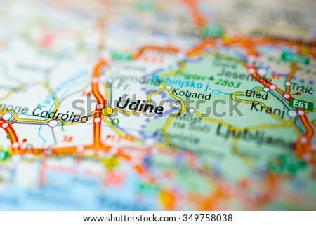 Map Of Udine Stock Images RoyaltyFree Images Vectors - Udine map