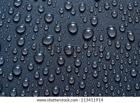 Macro water drops - stock photo