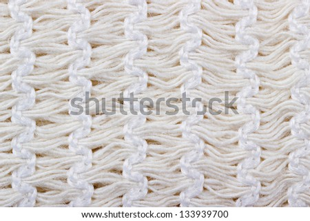 Macro white elastic bandage texture for background - stock photo
