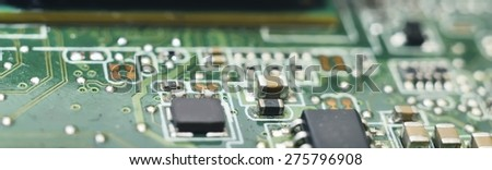 macro zoomed information technology background blur (computer hardware) - stock photo