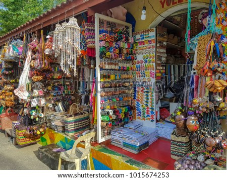 Mactan Island Cebu Philippines Aug 10 2016 There is a tourist attraction called Mactan shrine on the cebu where tourists purchase a lot of souvenirs here