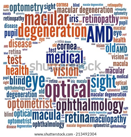 Macular Degeneration in word collage - stock photo