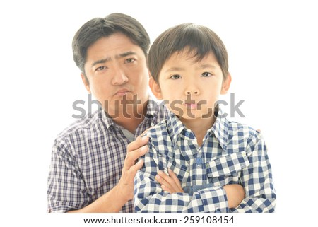 Mad Father and son  - stock photo