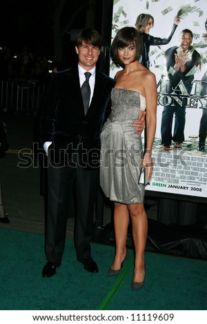 Mad Money Premiere held at Mann Village Theater, Los Angeles Tom Cruise, Katie Holmes - stock photo