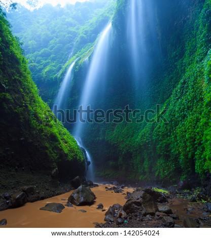 Madakaripura  Waterfall, East Java, Indonesia - stock photo