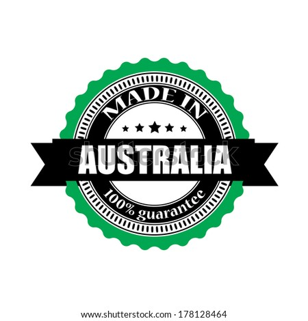 Made in Australia labels, badges, stickers and symbols - jpeg format.