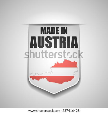 made in Austria - stock photo