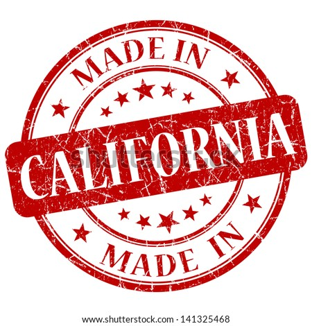 made in california stamp - stock photo