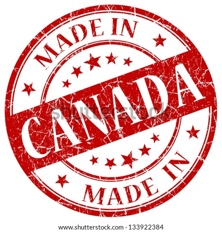 made in canada stamp - stock photo