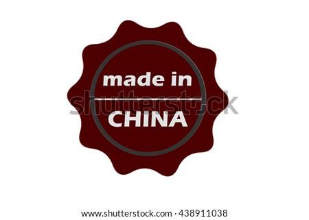 made in China red round vintage stamp.China stamp.China seal.China tag.China.China sign.China.China label.stamp.made.in.made in. - stock photo