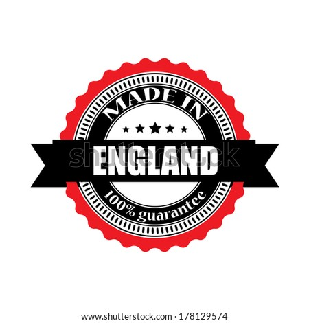 Made in England labels, badges, stickers and symbols - jpeg format. - stock photo