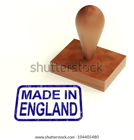 Made In England Rubber Stamp Showing English Products