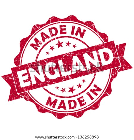 made in england stamp - stock photo