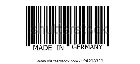Made in GERMANY on abstract barcode security pattern background - stock photo