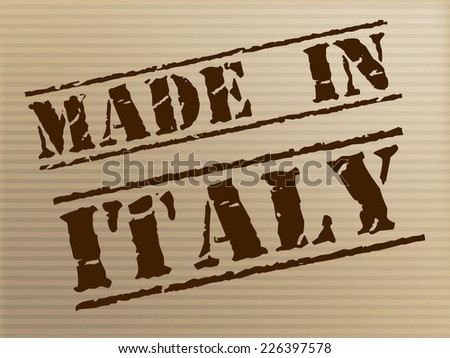 Made In Italy Showing Commercial Europe And Factory