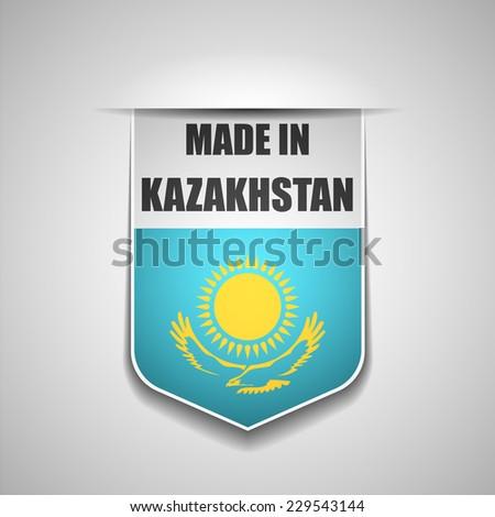 Made in Kazakhstan - stock photo