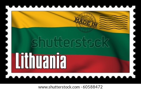 Made in Lithuania original stamp