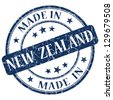 made in New Zealand stamp - stock photo