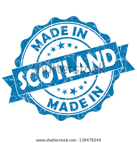 made in scotland stamp - stock photo