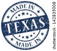 made in texas stamp - stock vector