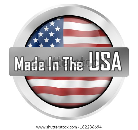 made in the usa - stock photo
