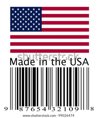 Made in the USA. - stock photo