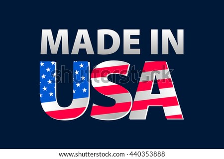 Made in the USA logo art