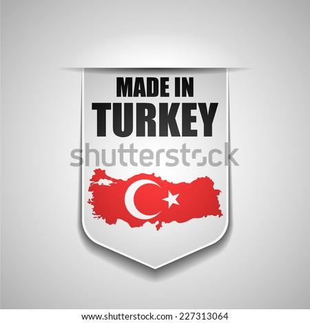 Made in Turkey - stock photo