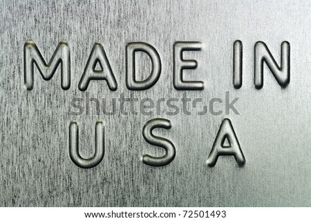 Made in USA Engraved on Steel