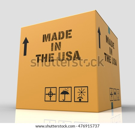 Made In Usa Meaning United States Industry 3d Rendering