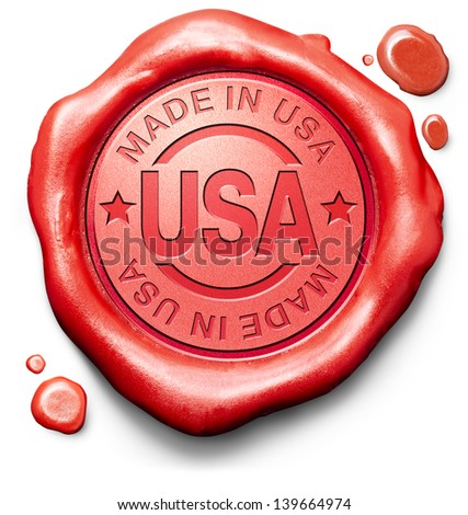 made in USA original american product buy local buy authentic US America - stock photo