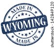 made in wyoming stamp - stock photo