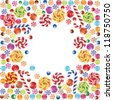 made of colorful candies - stock vector