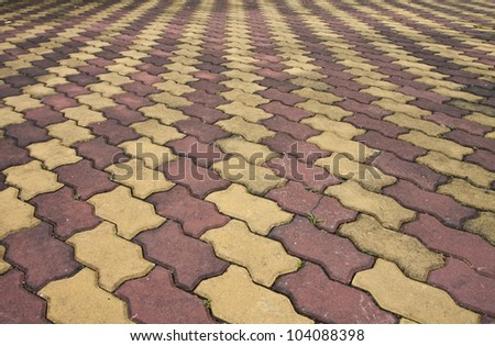 Made of concrete block pavement.in thailand. - stock photo
