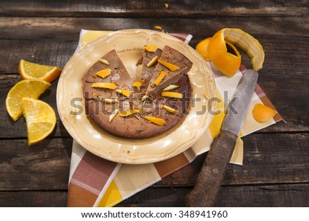 Made with cake flour chestnuts and orange peel - stock photo