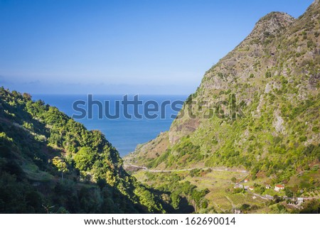 Madeira inside - amazing view on mountains, houses and sunrise