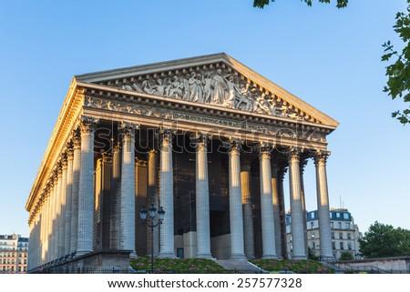 Madeleine Church (La Madeleine) in Paris, France - stock photo