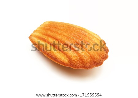 Madeleine cookie on white background            - stock photo