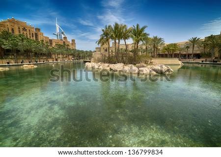 Madinat Jumeirah the Arabian Resort - Dubai - stock photo