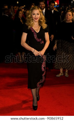 "Madonna arrives for the premiere of ""W.E."", as part of the London Film Festival 2011, at the Vue West End, London. 23/10/2011 Picture by: Simon Burchell / Featureflash"