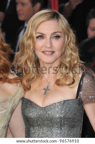 Madonna at the 69th Golden Globe Awards at the Beverly Hilton Hotel. January 15, 2012  Beverly Hills, CA Picture: Paul Smith / Featureflash - stock photo