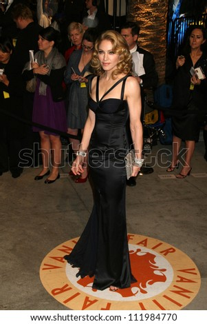 Madonna at the 2007 Vanity Fair Oscar Party. Mortons, West Hollywood, CA. 02-25-07 - stock photo