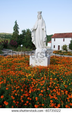 Madonna of Medjugorje - Tihaljina - stock photo