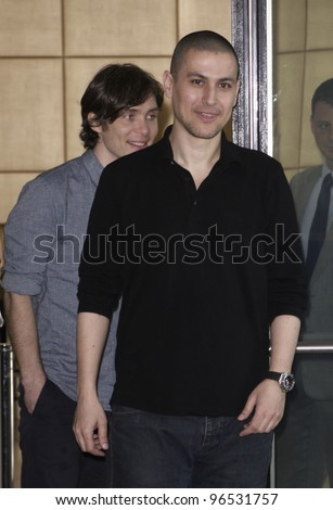 "MADRID - FEBRUARY 29: Rodrigo Cortes, director, and Cillian Murphy, main actor, at the presentation of the ""Red lights"" movie on February 29, 2012 in Madrid"