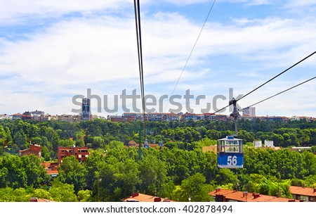 Madrid from the cableway - stock photo