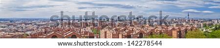 Madrid, May 2012. Skyline. 3,500,000 population. - stock photo